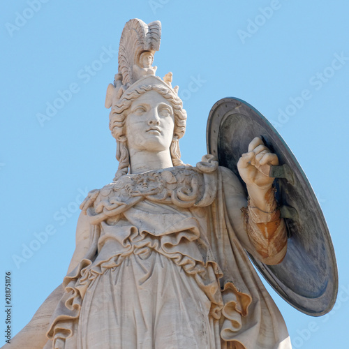 Fotografia Athens statue, the ancient greek goddess of knowledge and wisdom