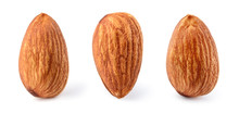 Almond Isolated. Almonds On Wh...