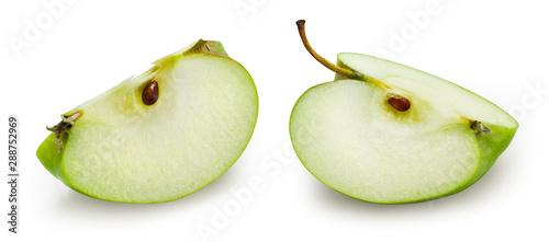Fotomural  Green apple isolate