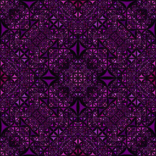 Purple Seamless Kaleidoscope Pattern Background - Abstract Symmetrical Vector Wallpaper Illustration From Curved Shapes