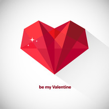 Polygonal Heart Vector Illustr...