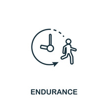 Endurance Icon. Thin Outline Style Design From Fitness Icons Collection. Creative Endurance Icon For Web Design, Apps, Software, Print Usage