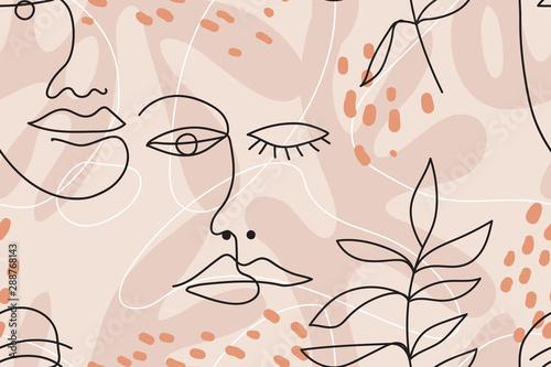minimalne-eleganckie-bezszwowe-wektor-wzor-z-jednej-linii-narysowane-twarze