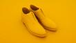 canvas print picture - Men's shoes. Minimal idea concept. 3d illustration