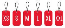 Clothing Size Labels Set: XS, ...