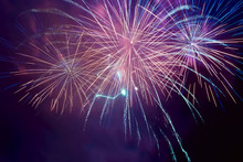 Fireworks On The Black Sky Bac...