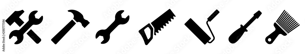 Fotografía Tool icon collection. Instrument icons set. Vector illustration