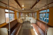 Interior Of An Empty Retro Car...