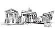 Rysynek ręcznie rysowany. Brama Branderburska w Berlinie
