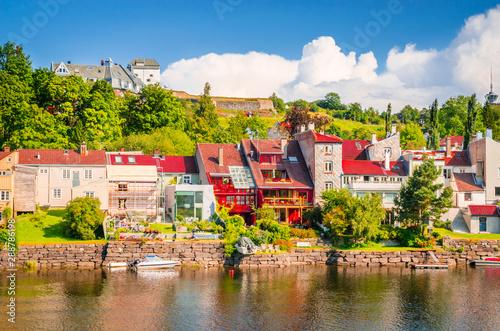 Keuken foto achterwand Noord Europa Panoramic view of beautiful city Trondheim, Norway
