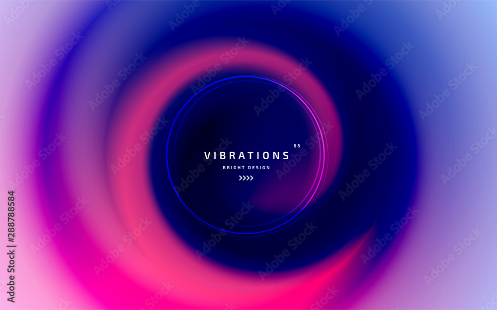 Fototapeta Liquid abstract background with colorful smooth flow of colors. Beautiful blurred backdrop with fluid gradient. Twisted design with gradual blend between shades. Vector template of cover, presentation
