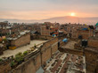 Nepal City Skyline, Bhaktapur, Rooftops at Sunrise