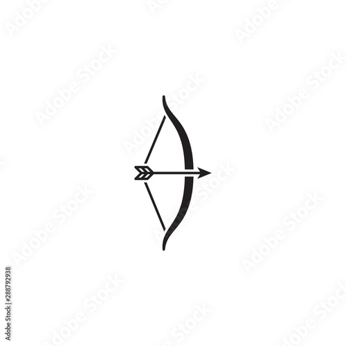 Vászonkép Archery. Vector logo icon template
