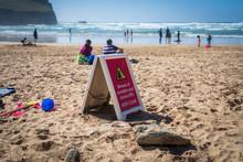 Danger Sign Warning Beach User...