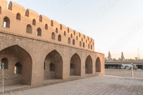 Obraz na plátne Baghdad, Iraq – June 25, 2019: Old castle Bab al Wastani in Baghdad