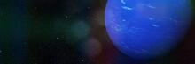 Planet Neptune In Empty Space