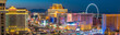 canvas print picture  Panoramic view of the Las Vegas Strip in United States