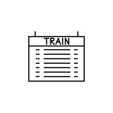 Schedule Train Icon. Element O...