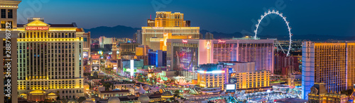 Photo sur Aluminium Las Vegas Panoramic view of the Las Vegas Strip in United States