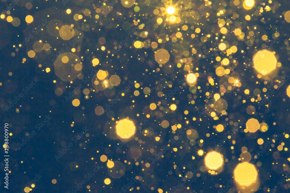 Fototapety, obrazy: Abstract blur black bokeh