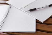 Selective Focus Of Pen, Notebo...