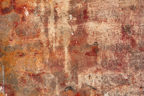 Fototapety, obrazy: Texture of a concrete wall with cracks and scratches which can be used as a background