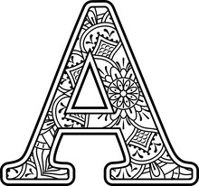 Initial A In Black And White W...