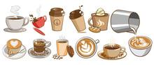 Coffee Vector Set Clipart Design