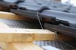 Leinwanddruck Bild Dachdecker, Dacheindeckung