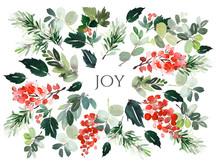 Christmas Watercolor Postcard....