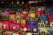 canvas print picture - taschen auf dem markt in madagaskar in afrika
