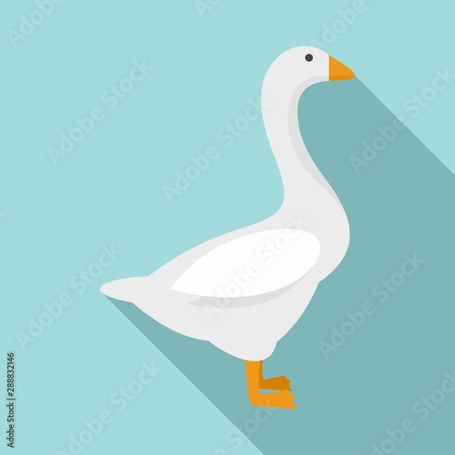 Domestic goose icon Fototapet