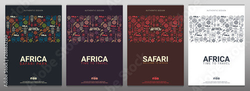 Fotografia  Set of Africa banners