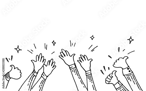 Fotografia  hand drawn of hands clapping ovation