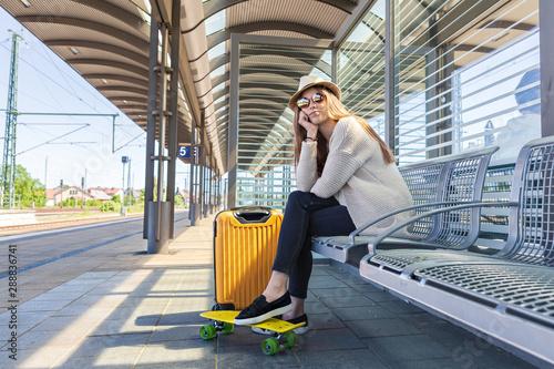 Fotografía  on the railway station