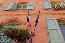 French Half Mast Flag With Bla...