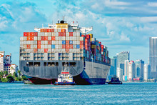 Container Ship Entering Port