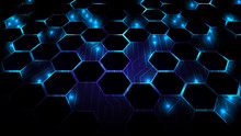 Abstract Background With Hexag...