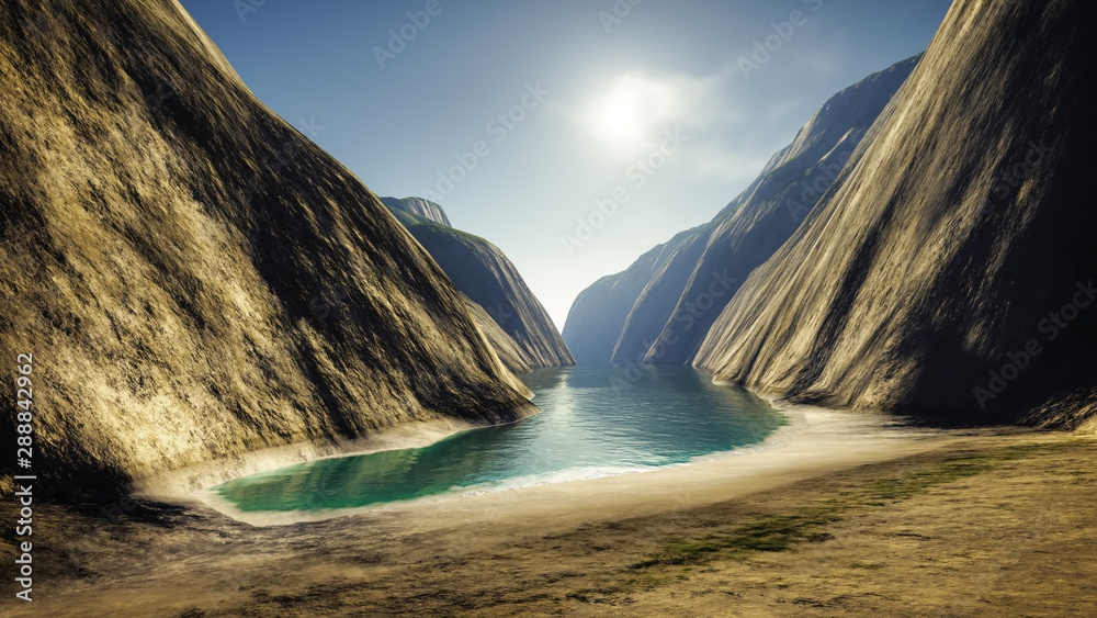 Fototapety, obrazy: Fantasy Canyon Beach