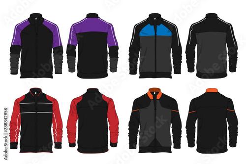 Photo Varsity sports jacket template design vector mockup