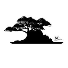 Vector Of Bonsai Tree,mini Tree And Rock  In Pot.