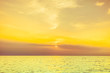 canvas print picture Baltic sea sunset horizon and cloudy sky