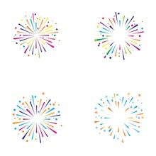 Fire Work Icon Vector Illustration Design Logo