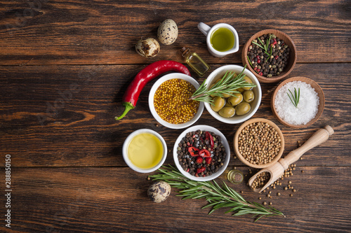 Obraz spices and vegetables in bowl - fototapety do salonu