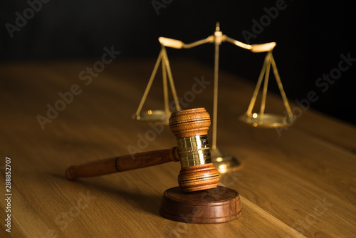 Fotografering  Law and Justice symbols concept, Lawyers modern office