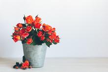 Romantic Bouquet Of Bright Ros...