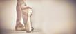 Leinwanddruck Bild - Ballerino practising ballet dance in the studio