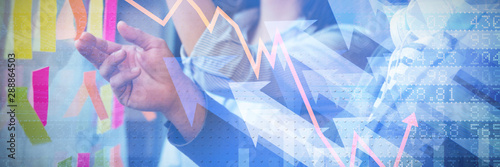 Composite image of stocks and shares - 288864503