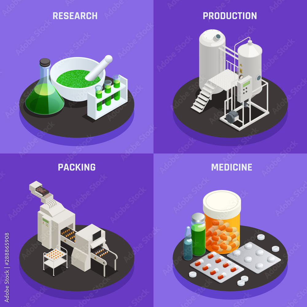 Fototapety, obrazy: Innovative Technologies Isometric Composition