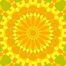 Psychedelic Mandala Kaleidoscope Seamless Pattern